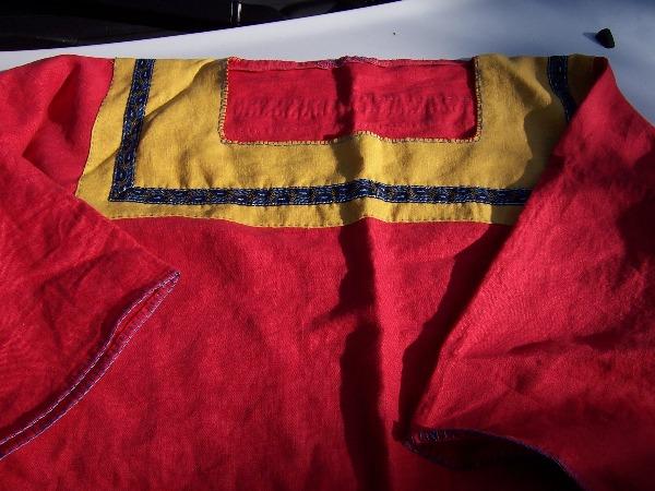 Orlando's finished tunic
