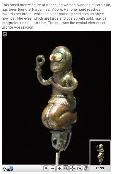 Bronze string skirt figurine