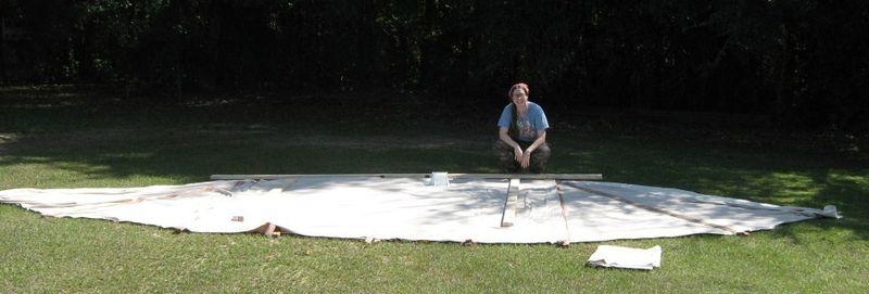 Marking ridgepole